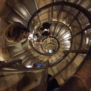 Les escaliers de l'Arc de Triomphe