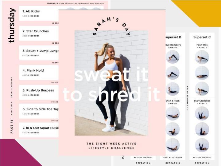 J'ai testé: le E-Book Sweat It to Shred it de Sarah'sDay